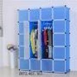 ตู้ DIY ลายเส้นสีขาว ข้างตู้สีฟ้า ขนาดช่องละ 37x37 ซม. รับน้ำหนักได้ช่องละประมาณ 10-15 กิโลกรัม (ขนาด 12 และ 16 แถมชั้นวางรองเท้า)
