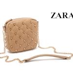 (Preorder ตุลาคม 57) ZARA TRF rivet quilted chain bag สีเบจ