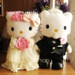 [Preorder] ตุ๊กตาเจ้าบ่าวเจ้าสาวแมวเหมียวคิตตี้ ไซส์ 30 Hello kitty KT cat Katie wedding wedding gift wedding wedding supplies front DOLL_BABY