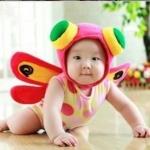 แมงปอน้อย ชุด + หมวก สำหรับ 3 เดือน - 1 ขวบ / (Free size 1 เดือน - 1 ปี)