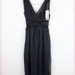 [Preorder] เดรสแฟชั่นคอวีสไตล์โบฮีเมียนสีดำ big Korean star models V-neck bohemian dress