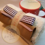 เซตผ้าขนนิ่มสำหรับเย็บตุ๊กตาหมี  - โทนสีครีม