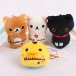 (สินค้าแลกซื้อในราคา 60 บาท) San-X ที่ห้อยมือถือแบบเช็ดหน้าจอได้ มี Rilakkuma/ Korilakkuma/ Chicken/ Kutsushita Nyanko