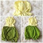 คอกระเช้าเด็ก สีเหลือง สาวน้อยทารก - 1 ขวบ โจงกระเบนลายใดลายหนึ่ง เลือกไม่ได้ #ชุดเด็ก#ชุดเด็กไทยโบราณ#ชุดไทยเด็กเล็ก#ชุดเด็กใส่สงกรานต์#ชุดเด็กไทยเทศกาล