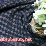 ผ้าพันคอลายสก๊อต : สีน้ำตาลดำ