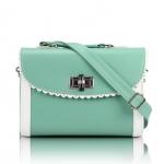 [Preorder] กระเป๋าสะพายข้างแฟชั่นเก๋ๆ สไตล์ Retro สี Mint (เขียวมิ้นท์) 2013 new handbag shoulder bag handbag Messenger bag handbags Korean sweet little fresh influx of women bags