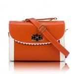 [Preorder] กระเป๋าสะพายข้างแฟชั่นเก๋ๆ สไตล์ Retro สี Orange (ส้ม) 2013 new handbag shoulder bag handbag Messenger bag handbags Korean sweet little fresh influx of women bags