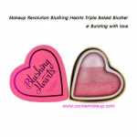 Makeup Revolution Blushing Hearts Triple Baked Blusher - Bursting With Love สีชมพูระเรื่อ 10 g.