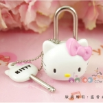 [Preorder] กุญแจล็อคกระเป๋า Hello Kitty สีขาว hello kitty cute cartoon character Hello Kitty suitcases luggage padlock lock cabinet drawer