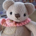 ตุ๊กตาหมีผ้าขูดขนสีน้ำตาลขนาด 9.5 cm. - Niza