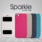 เคสหนังฝาพับ iPhone 5 / 5S ยี่ห้อ Nillkin Sparkle Leather