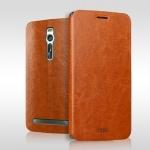 เคสหนังฝาพับ Asus Zenfone 2 (ZE551ML) ยี่ห้อ MOFi Leather Slim