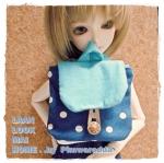 DB.MSD17 : กระเป๋าเป้สำหรับตุ๊กตาค่ะ น้องในภาพเป็น Size MSD ค่ะ มีราคาขายตั้งแต่ 1ใบ และราคาเป็นแพคด้วยค่ะ