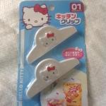 พร้อมส่งค่ะ Sanrio Hello Kitty ที่หนีบถุงขนมแพ็คคู่
