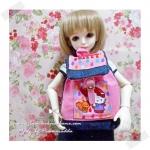"HMLMshop120 : กระเป๋า สำหรับ ตุ๊กตา 16 "" (MSD,AMT,NANCY doll 16 "") - ผ้าอเมริกา"