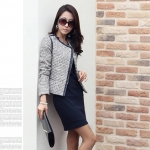 [Preorder] เดรสทำงานแฟชั่นแขนยาวเข้ารูปสีดำ (ไซส์ S - ไซส์ XXL) 2013 Hitz Korean version was thin long-sleeved base skirt big yards temperament Slim Dress Fall
