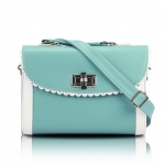 [Preorder] กระเป๋าสะพายข้างแฟชั่นเก๋ๆ สไตล์ Retro สี Aqua (ฟ้าน้ำทะเล) 2013 new handbag shoulder bag handbag Messenger bag handbags Korean sweet little fresh influx of women bags