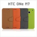 เคสหนังฝาพับ HTC One M7 ยี่ห้อ MOFi Leather Slim