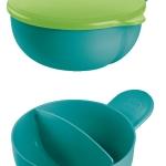 ชุดถ้วยจานชามป้อนอาหารเด็กอ่อน หรือเด็ก 6 เดือนขึ้นไป สีเขียว MAM Thailand (ของใช้เด็กอ่อน)
