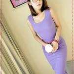 [Preorder] เซ็ทเสื้อแขนกุด + กระโปรง + เข็มขัด สีม่วง JackGrace suit! Practical Slim T + package hip skirt to send the belt four-color