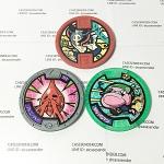 เหรียญ DX Yo-Kai Watch Set 3 เหรียญ ไม่ซ้ำแบบ มือสอง