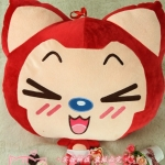 [Preorder] ตุ๊กตา Tanuki ตาขีดเส้นสีแดง (ขนาด 40 ซม.) Christmas tanuki new doll hug the raccoon and refueling raccoon