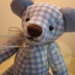 ตุ๊กตาหมีผ้าฝ้ายสีฟ้าขนาด 20 cm. - Friday