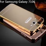 Luxury Mirror Case with Aluminium Bumper สำหรับ Samsung Grand 2 - G7106