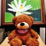 ตุ๊กตาหมีหลับ ตุ๊กตาหมีตัวเล็ก น่ารัก ขนาด 45 เซ็นติเมตร สีน้ำตาลเข้ม