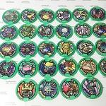 เหรียญ DX Yo-Kai Watch สีเขียว Set 28 เหรียญ ไม่ซ้ำแบบ มือสอง