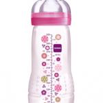 ขวดนมมัม MAM Thailand bpa free สีชมพู 11 oz 1 ขวด (ไม่ป้องกันโคลิค เหมาะกับเด็กอายุ 6 เดือนขึ้นไป)