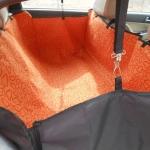 แผ่นรองกันเปื้อนสำหรับสุนัขในรถ Dog Car Seat ลายสีส้ม