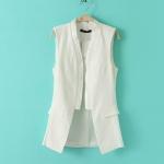 [Preorder] เสื้อกั๊กแฟชั่นสไตล์ยุโรป แบรนด์ Zara สีขาว zara new European and American women's vest 2013 Slim candy-colored stitching vest waistcoat jacket suit models