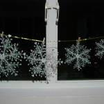 โค้งสุดท้าย Christmas Snow Flakes x 6 ชิ้น ประดับหน้าต่าง ต้นคริสต์มาส หรือต่อยาวลงมาเป็นสายได้