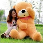 ตุ๊กตาหมีหลับ ตัวใหญ่ ขนาด 2 เมตร สีน้ำตาลอ่อน