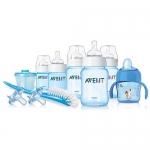 ขวดนมชุดของขวัญ Avent PP Newborn Starter Gift Set สีฟ้า