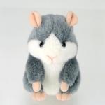 ตุ๊กตาหนูแฮมสเตอร์โต้ตอบเสียงพูด Mimicry Pet Hamster มี2สี: สีเทา และ สีน้ำตาล (สั่งซื้อ3ตัว เหลือตัวละ 455บาท)