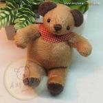 ตุ๊กตาหมีขนสั้นสีน้ำตาลขนาด 9.5 cm. - Niza