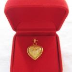 จี้สาริกาลิ้นทอง รูปหัวใจ เนื้อทอง เลี่ยมทองไมครอน พร้อมกล่องกำมะหยี่และใบคาถาค่ะ