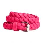 ♥♥พร้อมส่งค่ะ♥♥ H&M Braided Belt Coral เข็มขัดสีชมพูหวานๆ