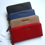 (Preorder) MNG saffiano effect long wallet