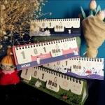 พร้อมส่งค่ะ ปฏิทินตั้งโต๊ะ Moomin ใช้ได้ทุกปี ไม่จำกัด พ.ศ.จ้า