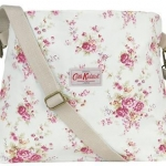 พร้อมส่งค่ะ Cath Kidston Washed Roses Stone Cotton Folded Messenger bag
