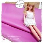 LH3 : หนังเทียมสีชมพูอมม่วง แบ่งขาย 1 หน่วย = ขนาด1/4 หลา : 45X 65 cm