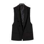 [Preorder] เสื้อกั๊กสูทแฟชั่นสไตล์ยุโรป สีดำ แบรนด์ ZARA (ไซส์ S M L) ZARA MICN2013 new counter female models with double-breasted vest vest vest waistcoat