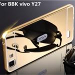 Luxury Mirror Cover with Bumper สำหรับ Vivo Y27