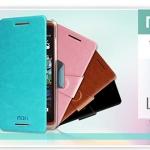 เคสหนังฝาพับ HTC Desire 600 ยี่ห้อ MOFi Leather Slim