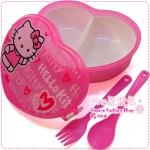 กล่องข้าวหัวใจ Hello Kitty สีชมพู Hello Kitty heart-shaped bunk lunch boxes / lunch boxes / love lunch boxes