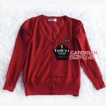 """Coat-110 เสื้อคลุมคาร์ดิแกน สีแดงเลือดหมู play ผ้าสวยใส่สบาย อก 35"""" ยาว 24"""" (เสื้อคลุมพร้อมส่ง)"""