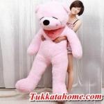 ตุ๊กตาหมีหลับ ตัวใหญ่ ขนาด 1.6 เมตร สีชมพู